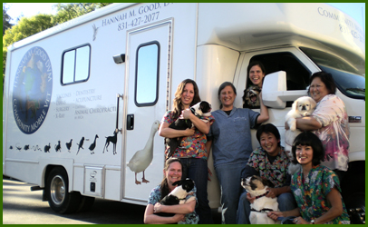 Community Mobile Vet Van and Staff